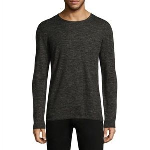 John Varvatos Long Sleeve Jersey Top Dark Grey